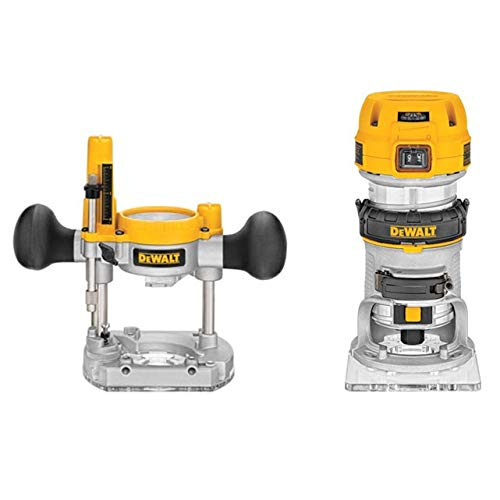 Dewalt DWP611PKR Premium Compact Router Fixed/Plunge Combo Kit (Renewed)