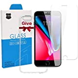 NOKAQ Iphone6 plus/6s Plus/7 Plus/8 Plus Clear Screen Protector with Case, Tempered Glass Protector with Replacement Warranty, 2-Pack