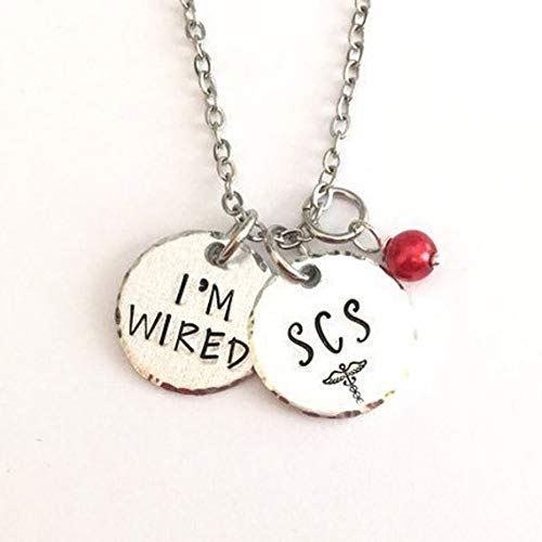 SCS necklace - spinal cord stimulator - medical alert necklace