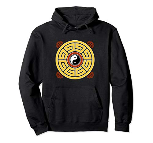 I Ching Feng Shui Taoist Mandala Amulet Antique Chinese Pullover Hoodie