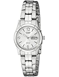 Women's EQ0540-57A Analog Display Japanese Quartz Silver-Tone Watch