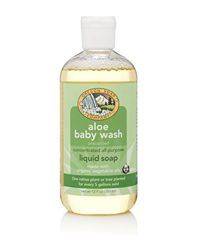 Aloe Castile Soap - Oregon Soap Company - Liquid Castile Soap, Certified Organic and Natural Ingredients, Concentrated Multipurpose Soap (12 ounce, Unscented)