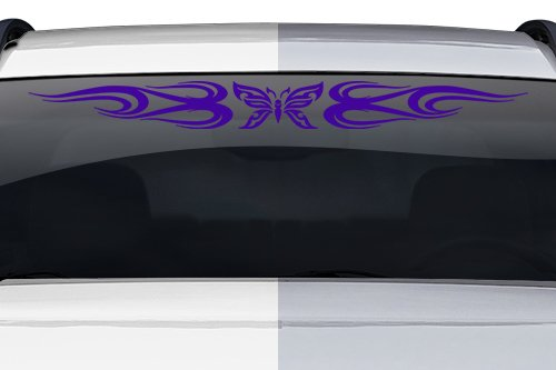 Sticky Creations - Design #132-01 Butterfly Tribal Swirl Swoosh Windshield Decal Sticker Vinyl Graphic Back Rear Window Banner Tailgate Car Truck SUV Van Go Cart Boat | 36