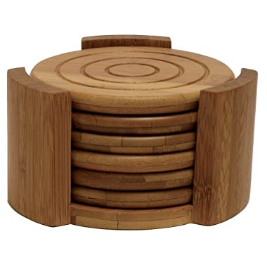 Lipper Bamboo Collection 7-Piece Coaster Set