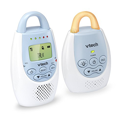 VTech BA72212BL Blue Audio Baby Monitor with up to 1,000 ft of Range, Vibrating...