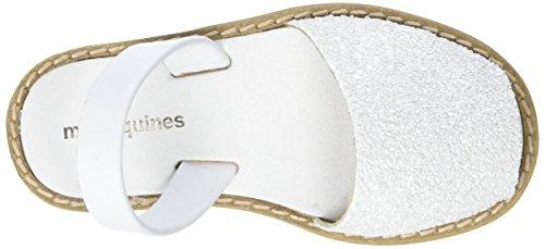 Minorquines Mädchen Avarca Slingback Weiß (Blanco)