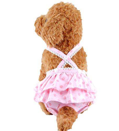 PET SHOW Female Pet Dog Dot Suspender Braces Skirt Sanita...