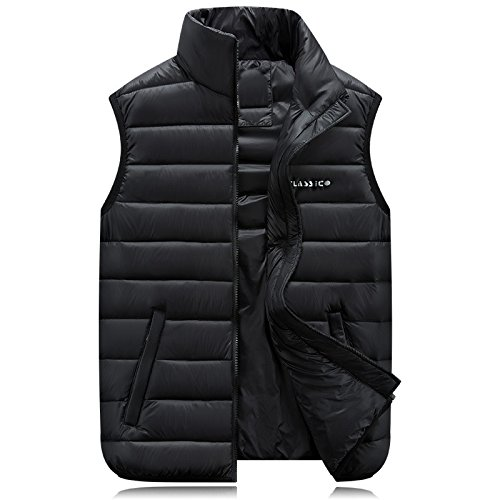 MJ Down comforters, cotton vest for fall/winter. Plus size coats. Collar men's plus size men's clothing. Padded waistcoat , black , 5xl vest&ASDSC