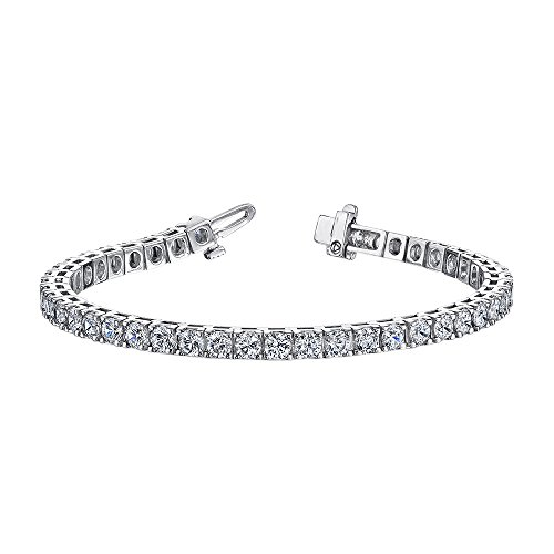 3 ct. Diamond Riviera Tennis Bracelet in Sterling Silver (Color GH, Clarity I2-I3) by KATARINA