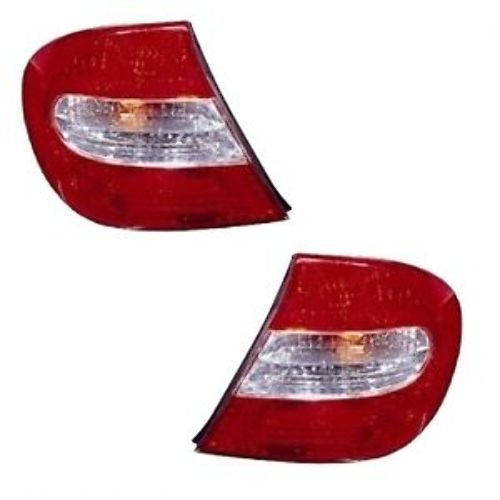 (2002-2003-2004 Toyota Camry Taillight Taillamp Rear Brake Tail Light Lamp Pair Set Right Passenger AND Left Driver Side (02 03 04))