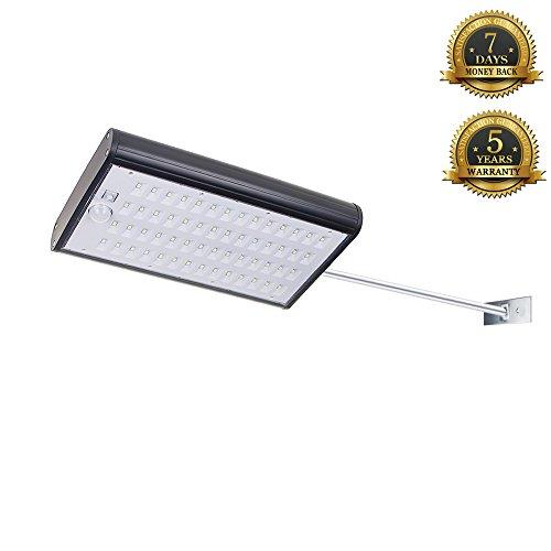 KUMEDA Solar Sensor Lights, Super Bright 56 LEDs Outdoor ...
