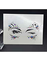 Bohemia Tribal Style 3D Crystal Sticker body Face And Eye Jewels Forehead Stage Decor Temporary Tattoo Sticker