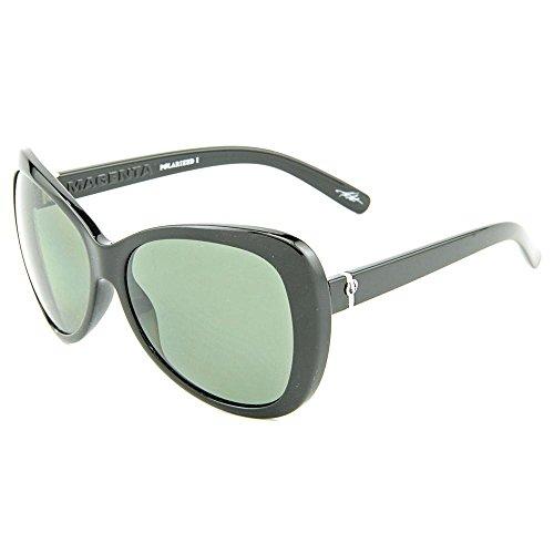 Electric Magenta MAGENTA-BLK Plastic Black Women Sunglasses