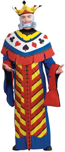 Rubie's Costume Co Playing Card King Costume, Large, (King Of Hearts Costume)
