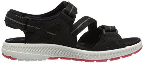Ecco Kvinners Terra 3s Atle Sandal Sort / Teaberry