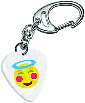 Ángel Halo emoticonos blanco Pearl púa de guitarra clave ...