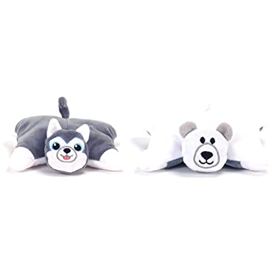 FlipaZoo Flip N Play Friends Minis - Husky/Polar Bear: Toys & Games