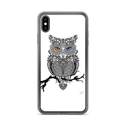 iPhone Xs Max Case Anti-Scratch Creature Animal Transparent Cases Cover The Owl Animals Fauna Crystal -