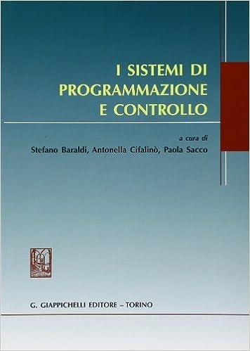 Book I sistemi di programmazione e controllo