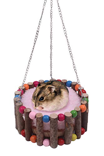 JanYoo Hedgehog Supplies/Cage/Bed/Accessories/House/Hammock for Hamster Chinchilla Ferret(S,Pink)
