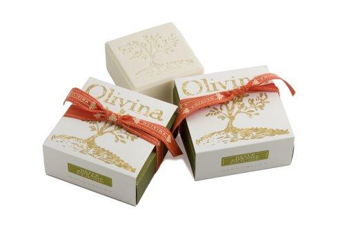 Olivina Bath Soap Trio Value Set, Olive