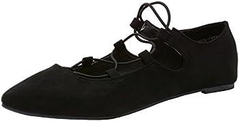 Alpine Swiss Elena Womens Pointed Toe Ballet Flat Shoes