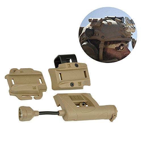 Night evolution Charge Helmet Light Illumination Tool 4 Modes Outdoor Hunting Military Light Light (NE05006) (Tan)