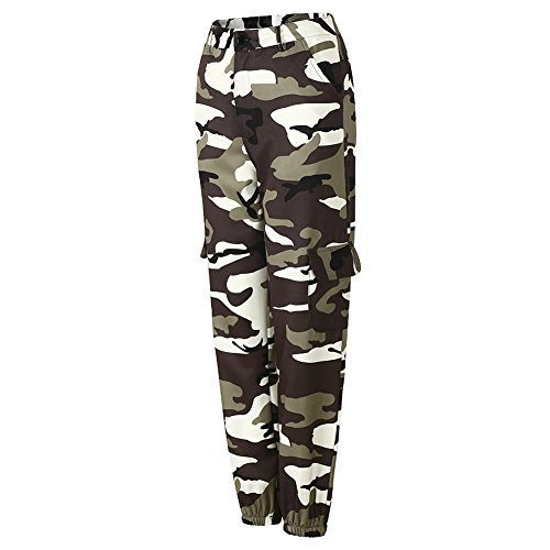 Sportivi Grigio Camouflage Pantaloni Cargo Mimetici Donna Juleya Da Harem qAwFxE8t