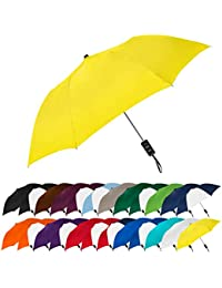 Spectrum Popular Style Automatic Open Close Small Light Weight Portable Compact Tiny Mini Travel Folding Umbrella for Men and Women, Yellow