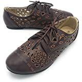 Blue Berry EASY21 Women's Casual Flats Ballet Fashion Shoes Faux Leather