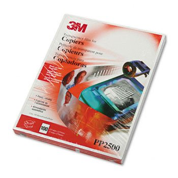 3M Transparency Film for Laser Copiers TRANSFLM,NO STRIP,CR 75P6959 (Pack of3)