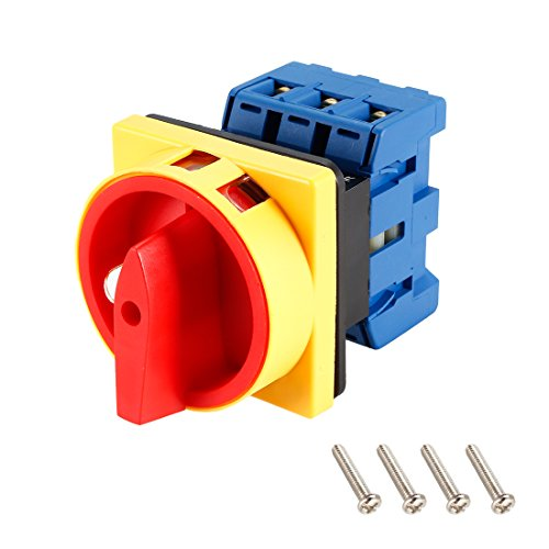 itch 2 Position Rotary Selector Cam Switch Panel Mount 6 Terminals Latching Ui 690V Ith 63A ()