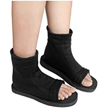 DAZCOS Unisex Black Shippuden Ninja Shoes [US 5 - US 11] [ Adult/Child ]
