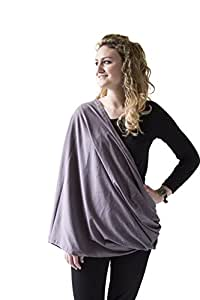 Soft Premium 100% Cotton Nursing Cover & Nursing Scarf - Shopping Cart Cover, Blanket - Multi-Use Breastfeeding Cover