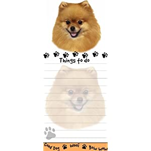"""Pomeranian Magnetic List Pads"" Uniquely Shaped Sticky Notepad Measures 8.5 by 3.5 Inches 8"