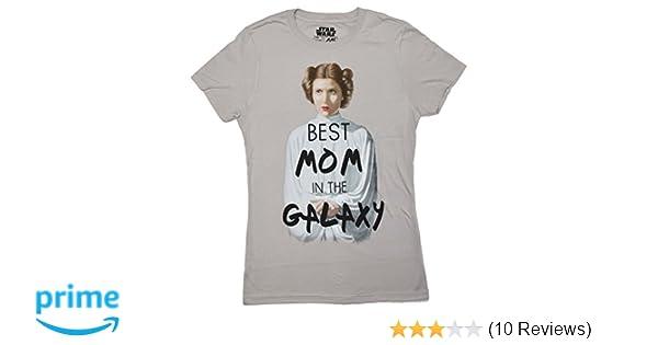 4c8e089d Amazon.com: Star Wars Princess Leia Best Mom in The Galaxy Juniors T-Shirt:  Clothing