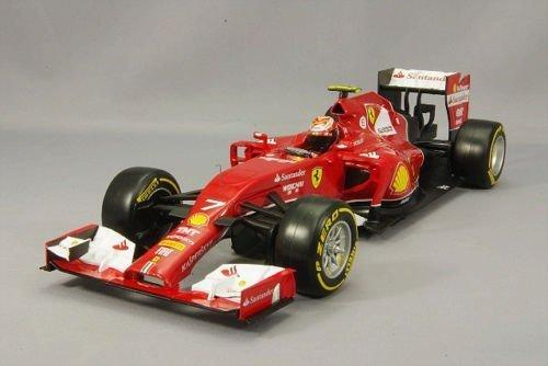 2014 Ferrari F14-T Racing - Kimi Raikkonen Diecast Model Car in 1:18 Scale by Mattel Hot Wheels