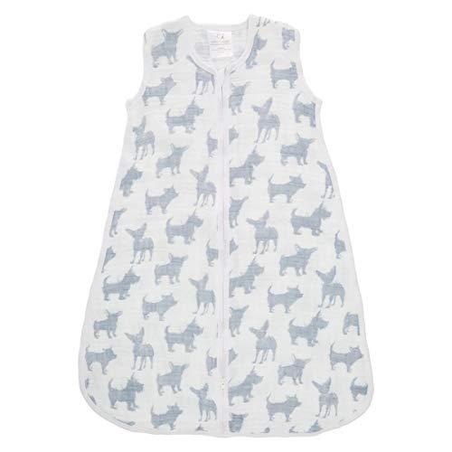 Aden + Anais Classic Sleeping Bag, 100% Cotton Muslin, Wearable Baby Blanket, Medium, 6-12 Months, Waverly - Pup ()
