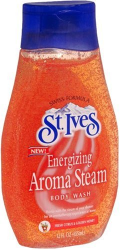 St. Ives Swiss Formula Energizing Aroma Steam Body Wash, Fresh Citrus & Golden Honey, 12 fl oz (355 ml)
