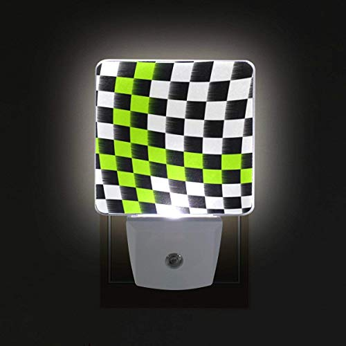 xiaodengyeluwd 2 Pack Checkered Flag Plug in Dusk