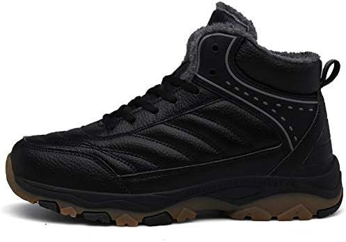 クラシック冬のメンズ雪のブーツは暖かく快適ノンスリップレースアップ人工皮革アウトドアウェア作業靴黒 (色 : 黒, サイズ : 29 CM)