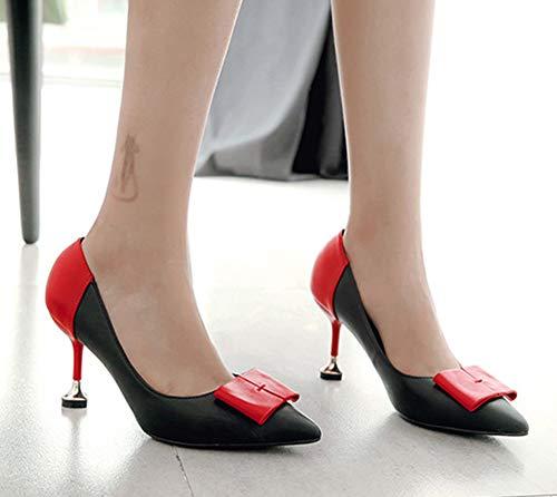 Rouge Escarpin Femme Chaussures Basse À Aisun Aiguille Elégant Fille Talon w8CxPqnzS