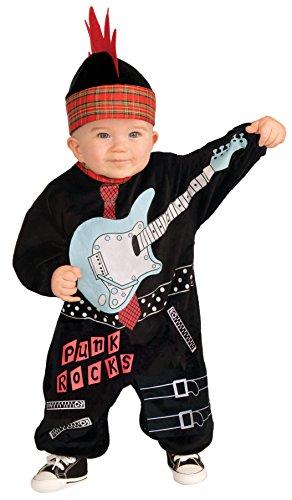 Rock Baby Costume (Forum Novelties Baby Boy's Lil Rock Star Punk Baby Boy Costume, Multi,)