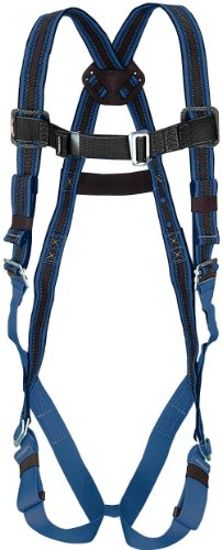 Miller by Honeywell E650D/S/MBL DuraFlex 650 Series Full-Body Stretchable Harness with Mating Buckle Legs Straps, Small/Medium, Blue -