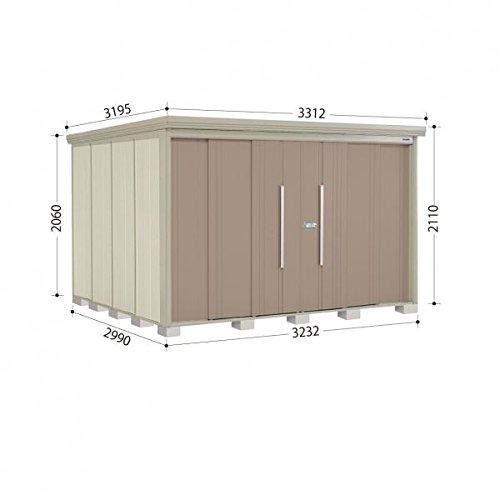タクボ物置 ND/ストックマン 側面棚 ND-3229Y 一般型 標準屋根 『屋外用中型大型物置』 カーボンブラウン B018CAAOX2