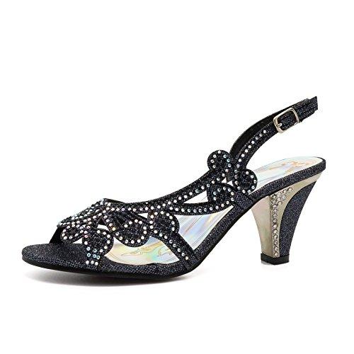 Peep toe Femme Footwear London Noir Xwx0BW
