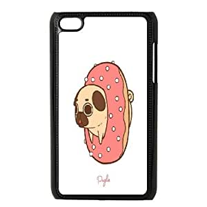 Cute pug iPod Touch 4 Cover, Customized iPod Touch 4 Case