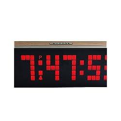 YSDSS CH KOSDA Large Wall LED Alarm Clock Digital Alarm Clock Countdown Snooze Wall Desk Room Kids Bedside Alarm Clock Watch, red JTWM