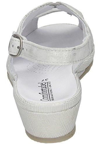 Comfortabel Damen Sandale Silber