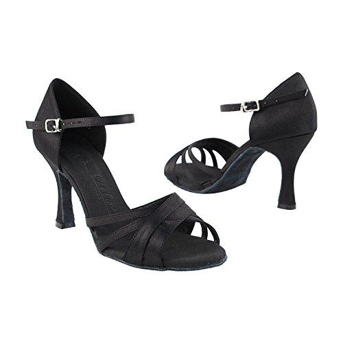 Very Fine Dance Shoes 6030, Black Satin, 2.5